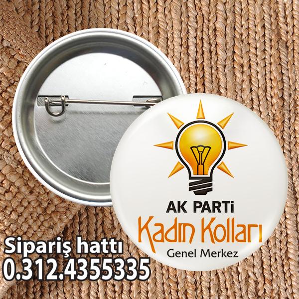 AKP Kadın Kolları Rozeti