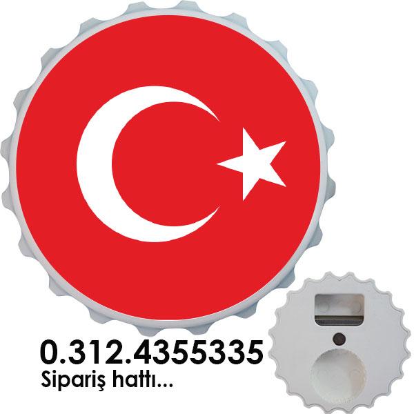 Magnet Gazoz Açacağı - Türk Bayrağı
